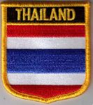 Thailand Embroidered Flag Patch, style 07.
